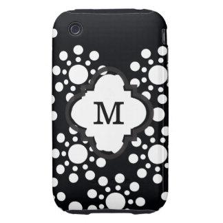 Polkadot noir et blanc étui tough iPhone 3