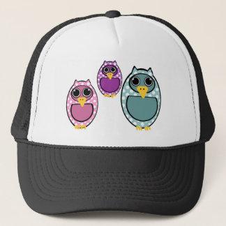 Polkadot Owl Drawing Trucker Hat