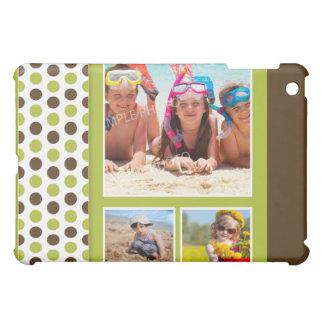 Polkadot Photo Collage Custom (lime) iPad Mini Case