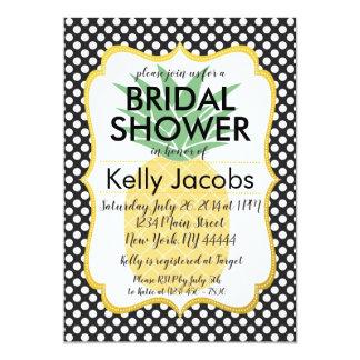 Polkadot Pineapple Bridal Shower Invitation