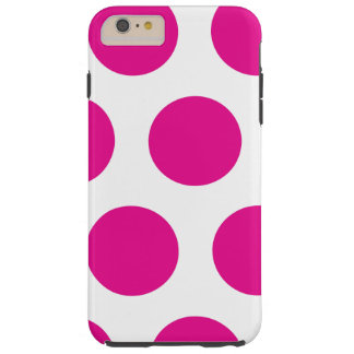 Polkadot rose et blanc coque iPhone 6 plus tough