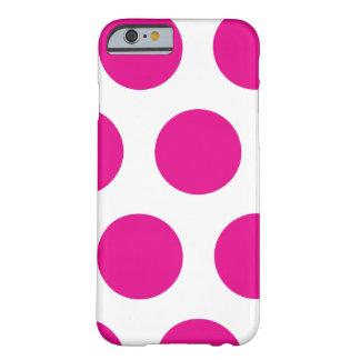 Polkadot rose et blanc coque iPhone 6 barely there