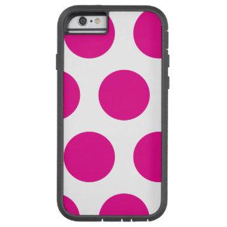Polkadot rose et blanc coque iPhone 6 tough xtreme