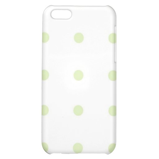 Polkadot vert coque pour iPhone 5C