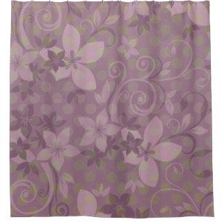 Polkadot vert floral violet