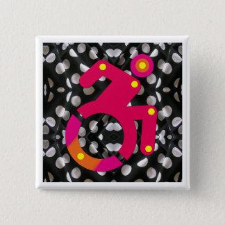 Polkadot Wheelchair Chic 2 Inch Square Button