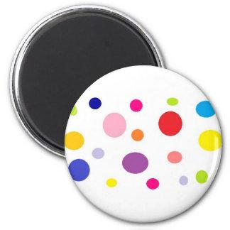 polkadots 2 inch round magnet