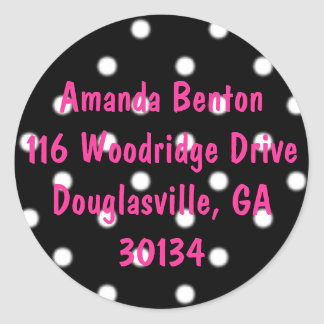 polkadots, Amanda Benton116 Woodridge DriveDoug... Classic Round Sticker