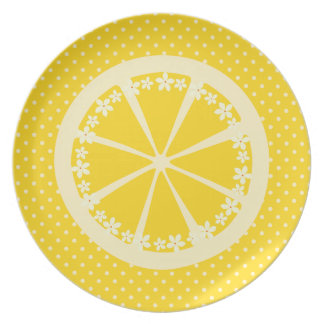 Polkadots and Lemons Party Plate