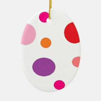 polkadots ceramic ornament