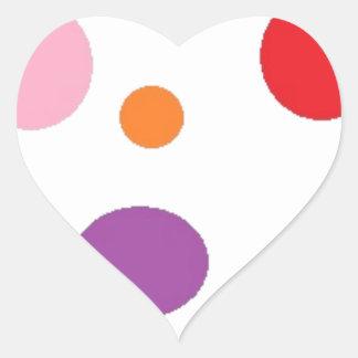polkadots heart sticker