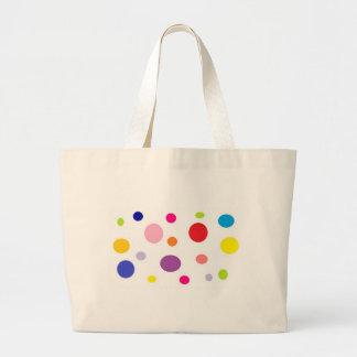 polkadots large tote bag
