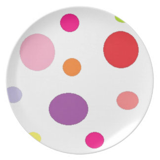 polkadots party plate