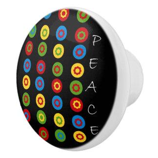Polkadots & Peace Ceramic Knob