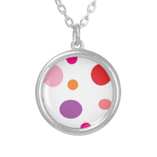 polkadots silver plated necklace