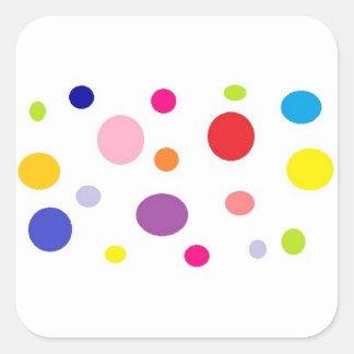 polkadots square sticker