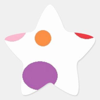 polkadots star sticker