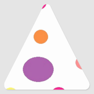 polkadots triangle sticker