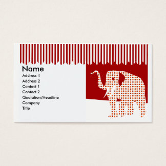 Polkadotted Cute Fun Circus Elephant Business Card