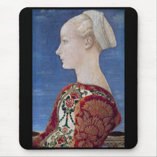 "Pollaiolo, ""Profile Portrait of a Young Lady"" Mouse Pad"