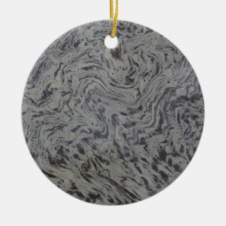 Pollen in a Puddle Round Ceramic Ornament