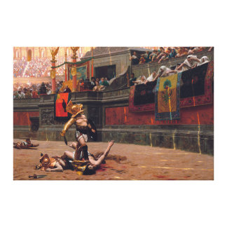 "Pollice Verso wrapped canvas 53.5"" x 35.5"""