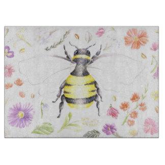 Pollinator Glass Cutting Board