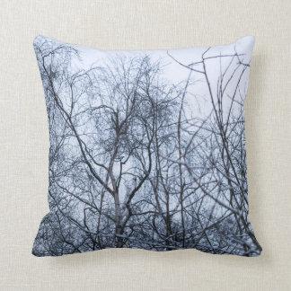 Pollock Branches Throw Pillow
