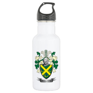 Pollock Family Crest Coat of Arms 532 Ml Water Bottle
