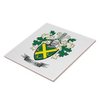 Pollock Family Crest Coat of Arms Ceramic Tiles