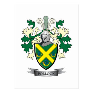 Pollock Family Crest Coat of Arms Postcard