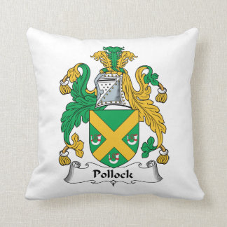 Pollock Family Crest Throw Pillow