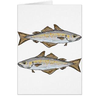 Pollock Fish Sketch Card