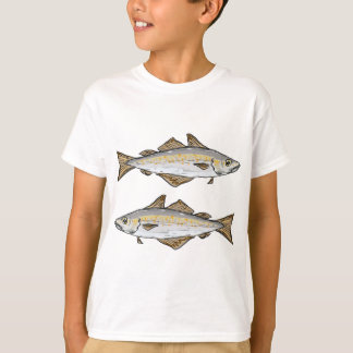 Pollock Fish Sketch T-Shirt
