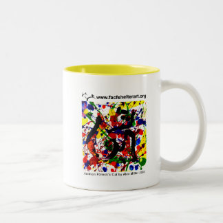 Pollock's Cat Two-Tone Coffee Mug