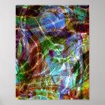 Pollock's Fingerprint Poster