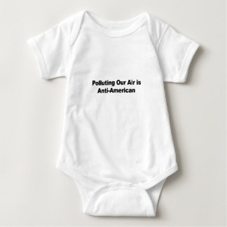 Polluting Our Air is Anti-American Baby Bodysuit