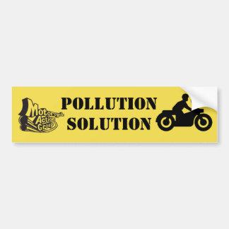 Pollution Solution Bumper Sticker