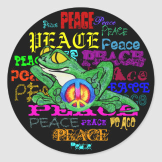 Pollywog with a Peace Sign Classic Round Sticker