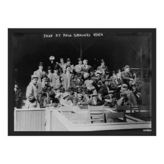 Polo Grounds Baseball Fans 1911 Poster