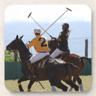 Polo Horse Match Set of Six Coasters