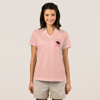 Polo pink tshirt with Little kitten