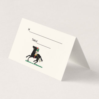 Polo Player on Pony Place Escort Card Ivory