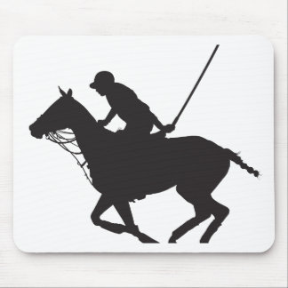 Polo Pony Silhouette Mouse Pad