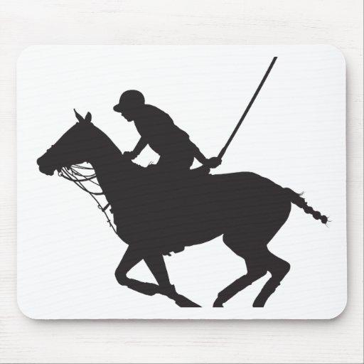Polo Pony Silhouette Mousepads