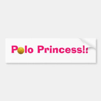 Polo Princess Bumper Sticker