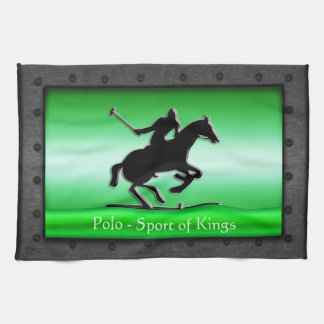 Polo, riveted steel frame with green chrome-effect kitchen towel