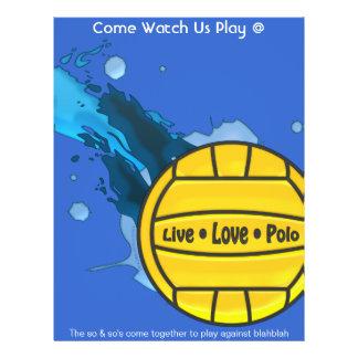 Polo vivant d'amour - insectes de polo d'eau prospectus 21,6 cm x 24,94 cm