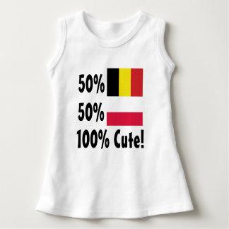 Polonais 100% de 50% Blegian 50% mignon Robe Sans Manche