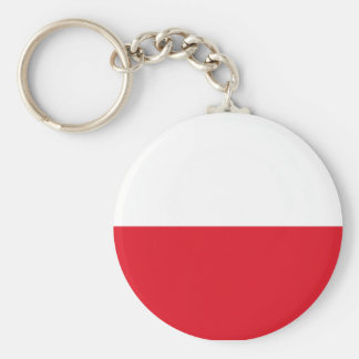 Polonian flag basic round button keychain